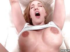 Kelly Divine holds her legs widely open for deeper anal.
